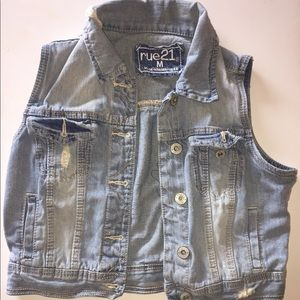 Distressed Rue21 Jeans Vest